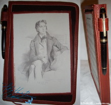 notebook, diary, paper 96p, Franz Liszt, brown leather