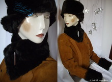 collar scarve, black-coffee and brown-chocolate faux-fur, 2012 winter