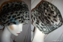 black and withe hat, 55-56, lynx imitation faux fur, 2012 winter