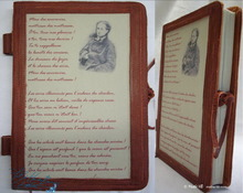 "linenotebook ""Beaudelaire"" poetry, 96p-paper, brown leather"