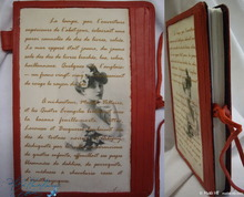 red leather literatur notebook, 96p-paper, Colette's notebook