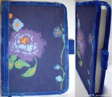 blue flowers notebook, poetry writing notebook, 96p-paper
