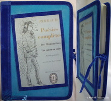poetry writing notebook, 96p-paper, A-Rimbaud notebook, king blue