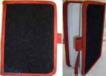 travel, pocket notebook, black and red, 96p-paper