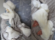 2 wristbands, muffs, wolf white faux-fur, winter wedding
