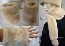 elegants wristbands, white cream beige, wristarmers faux-fur, 2012 winter