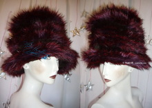winter hat, wine-red, chocolate, futuristic party