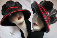 rain hat, black-ebony and red, 58-59/L, 2013 eccentric-retro-style