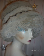 Hat, eccentric-retro, Fake Fur, black-sand-white