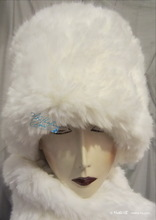 elegant hat, wolf white, 58-59/L, faux-fur, 2013-winter, wedding-ceremony-hats