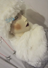 scarve, collar, white wolf faux-fur, winter wedding