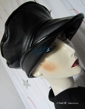 rain hat, black and black rain-hat, S-M