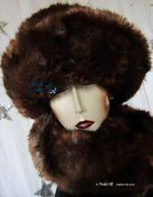 hat, chestnut and brown russet copper, winter hat, L