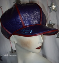 rain cap, purple and red, unisex rain-cap S-M