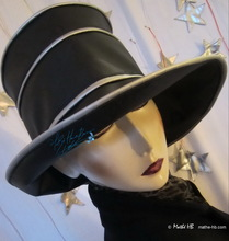 rain hat, ebony black and silver grey, XL