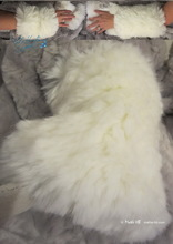 elegants wristbands, wolf white faux-fur 2-muffs, 2013-winter-wedding-ceremony