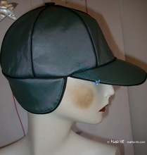rain cap, oil cloth green khaki and black, unisex-rain-cap
