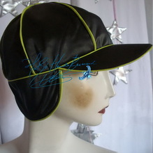 rain cap, apple green and black, unisex rain cap