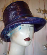 rain hat, purple, woman XS, rain season, eccentric retro style