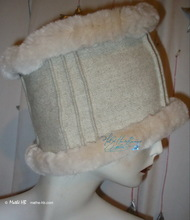 peace and love winter hat, M, white cream wool, party, night