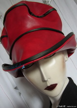 excentric rain hat, red and black, rock'n'roll, M-L