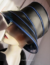 rain hat -Venitia- black and blue-king, original rain hat