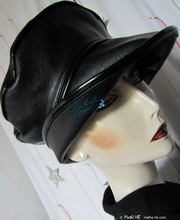 hat-to-order, rain hat, black and black, woman