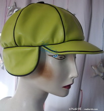 spring rain, apple green rain cap
