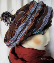 winter-hat, chocolate-wol chestnut-gray-blue son-velvet, style-Mongolian