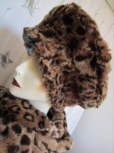 winter-hat-to-order, leopard-beret, chestnut and caramel faux-fur, winter headgear