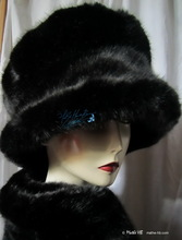 winter hat to order - the lady in black -  woman winter headgear