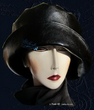 rain hat to order, black-hat, woman rain-headgear