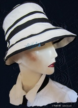 summer-hat sea-wind to-order, white sand and night blue linen