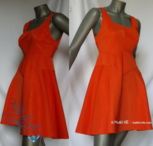 dress corail trapez, retro party evening,