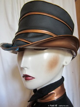 rain hat to-order rainhat, black and chestnut bronzes copper, 54-55-cm-S