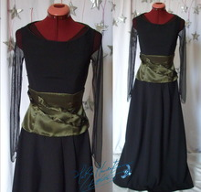 Concert outfit for violonist musician, long dress