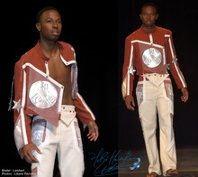 Stage outfit jacket trousers futuristic clothes Nin Kurgara show costume