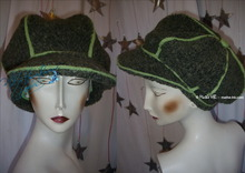 eccentric cap, retro style, apple green & khaki