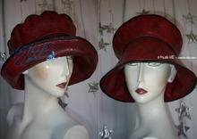 rain hat, snake black & red, original, 58-59 /L,