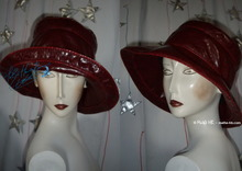 eccentric rain hat, wine red imitation tortoise