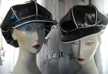 rain cap, sequins black & white pearl,  original,