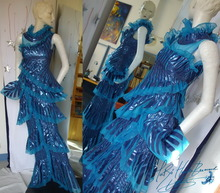 Futuristic stage dress, show long dress El Nath