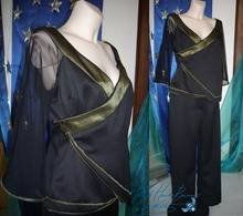 Concert outfit for clarinettist musician, tunic and trousers