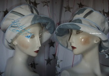 spring-summer hat, cotton, blue, white, sunhat,